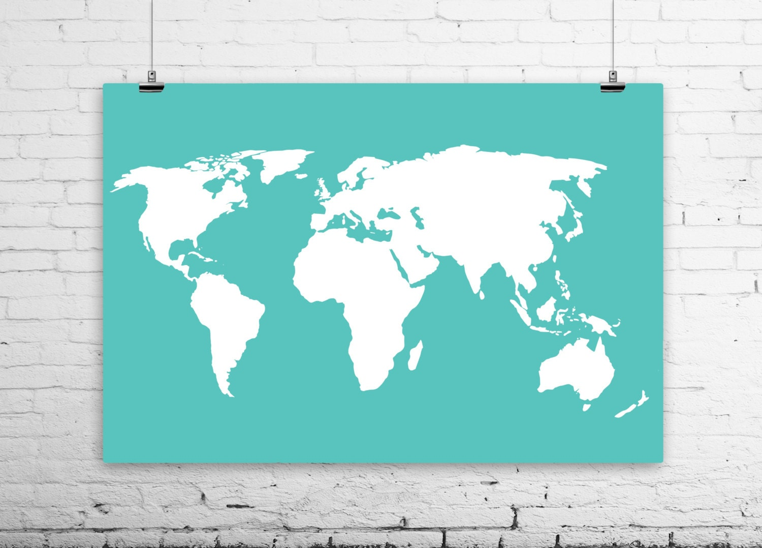 world map poster sizes from 4x6 to 36x48 large by bysamantha. Black Bedroom Furniture Sets. Home Design Ideas