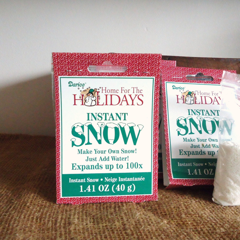 Instant snow christmas decor fake snow artificial snow for Artificial snow decoration