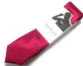 Raspberry skinny tie