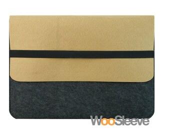 "13"" inch Apple Macbook Sleeve Macbook Pro / Air with Retina Display Sleeve Case Cover Laptop Sleeve Case Cover -- Brown  & Dark Grey"
