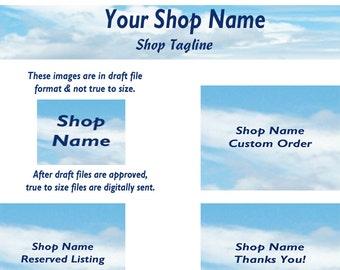 Etsy Shop Banner Set - Sky2