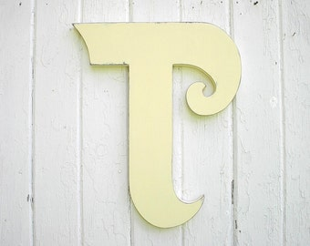 decorative wooden letters t 18 ivory distressed kids wall art nursery letter monogram dorm decor