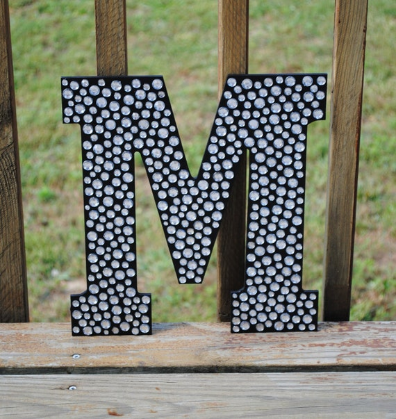 Items similar to sparkle black bling 13 decorative wall letters girls bedroom decor wedding - Sparkle wall decor ...