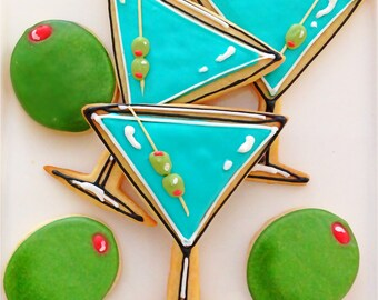 12 Martini Sugar Cookies