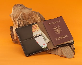 Passport Cover Wallet Horween Chromexcel Ox Blood Leather