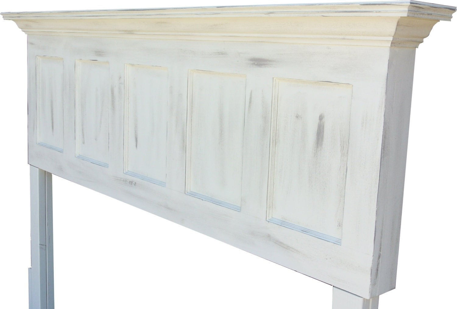 Antique White Or Popcorn White Faux Distressed Door Headboards