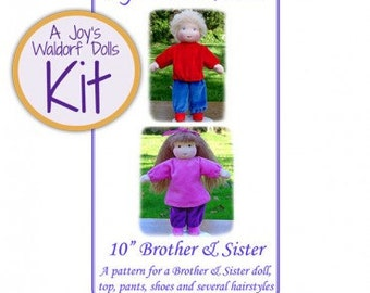 "Joy's Waldorf Dolls Kit 10"" Brother or Sister - GIRL Doll"