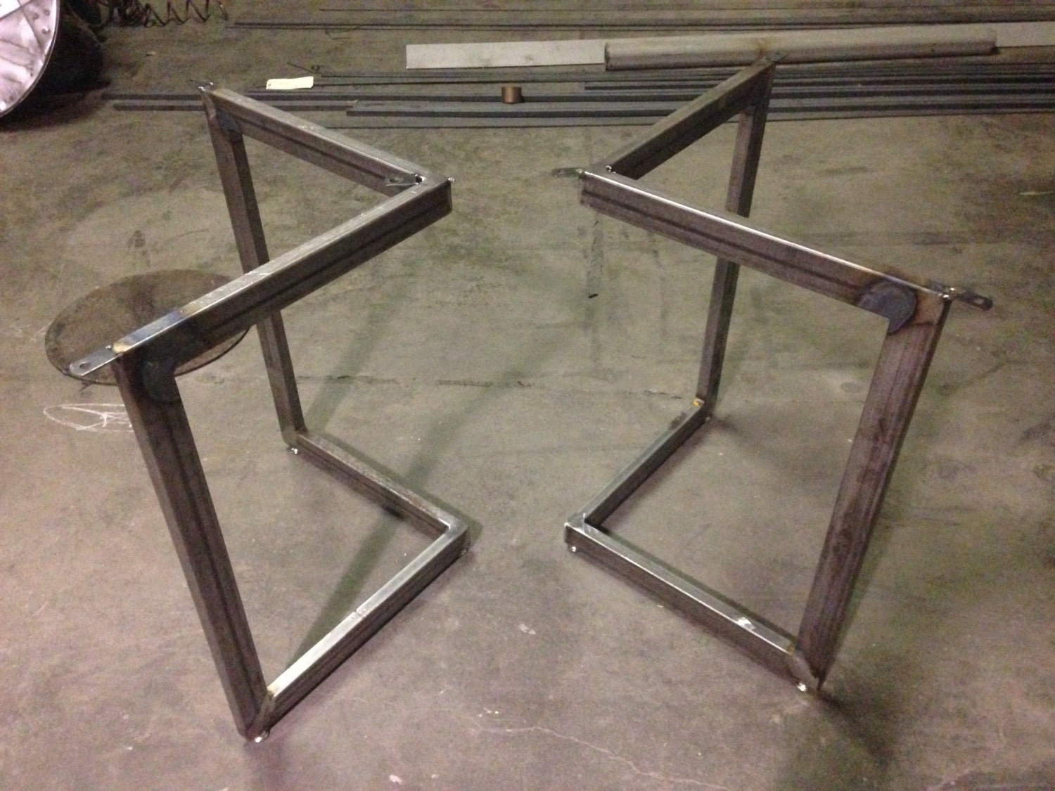 Iron Dining Table Legs Chevron Metal Dining Table Base Legs