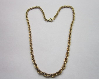Vintage Double Chain 12 K Gold Filled Necklace Lovely