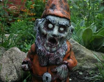 Necro Neckbeard Zombie Gnome