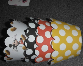 Mickey Mouse Inspired Cupcake Wrappers Set of 12 Mickey