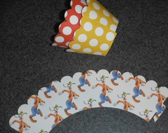 Goofy  Cupcake Wrappers Set of 12 Mickey  Minnie  Clubhouse