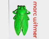 Cicada Pin in Fluorescent Green
