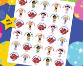 30 ct Personalized Little Einstein personalized stickres birthday party favor tags labels cupcake toppers decoration