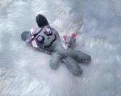 Bunny Love pincushion - grey