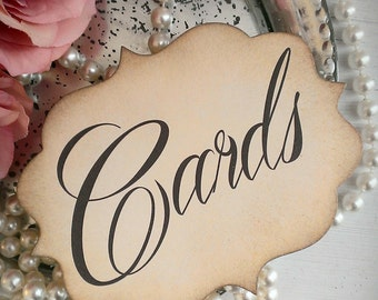cards wedding sign card table sign party table sign