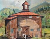 Primitive Barn Painting /  Folk Painting