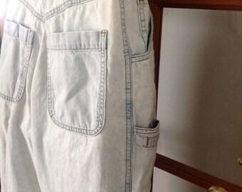 Vintage 80s high waist distressed jeans