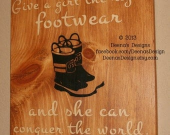 Female Firefighter Sign, Firefighter Decor, Distressed Wood Sign, Female Firefighter, Female Firefighter Signs - The Right Footwear
