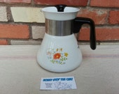 RESERVED FOR KORY Corning Wildflower Coffee Tea Pot Carafe