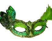 HALLOWEEN  Mask Poison Ivy Green Masquerade Costume mask
