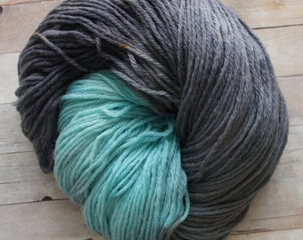 Hand Painted Yarn, Hand Dyed Pure Wool 210 yards, Worsted Weight