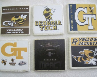 Georgia Tech Coasters - All 6 Coasters