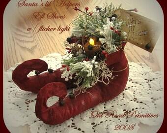 Primitive Christmas Pattern Santa's lil' Helpers Elf Shoes Christmas ePattern