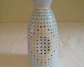 Dotted Colorful Milk Bottle Hand Painted