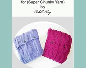 Knitting Pattern PDF Document Ula Duo Aran Cable Vintage Country Cottage Style Cushion Chunky Yarn Cover Set by Knit Designer Adel Kay