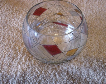 Vintage Glass Candy Dish Bowl CL18-13