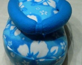 Custom order for Gail Arndt -- Blue Fleece Flip Flop Pillow