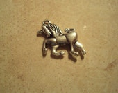 15 Tibetan Silver Unicorn  Charms Beautifully Detailed Double Sided