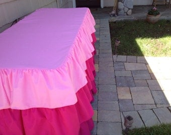 Ruffled Tablecloth Different Colors Available