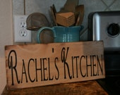 Personalized Kitchen Sign Rustic Kitchen Decor Distressed Kitchen Christmas Gift Personal Gift Stocking Stuffer