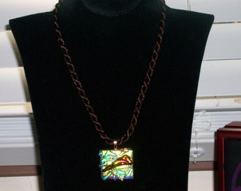 Free Form Dichroic Glass Necklace