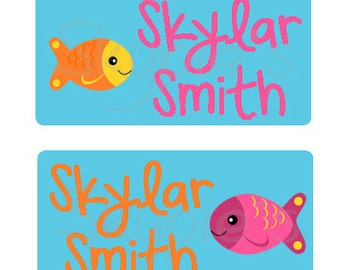 80 Large Personalized Waterproof Baby Bottle Labels Waterproof Stickers  Dishwasher Safe Daycare Label School Labels - My pet fish