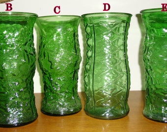 Vintage E. O. Brody Company Green Vase, Vintage Green Glass Textured Large Vase