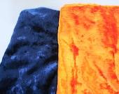 Blue and orange Velvet Vintage Fabric 100% Cotton