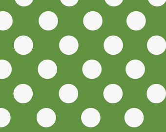 "Green Polka Dot Gift Wrap - 30"" x 96"" Roll - Various Colors Available"
