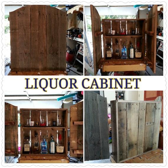 wooden liquor cabinets