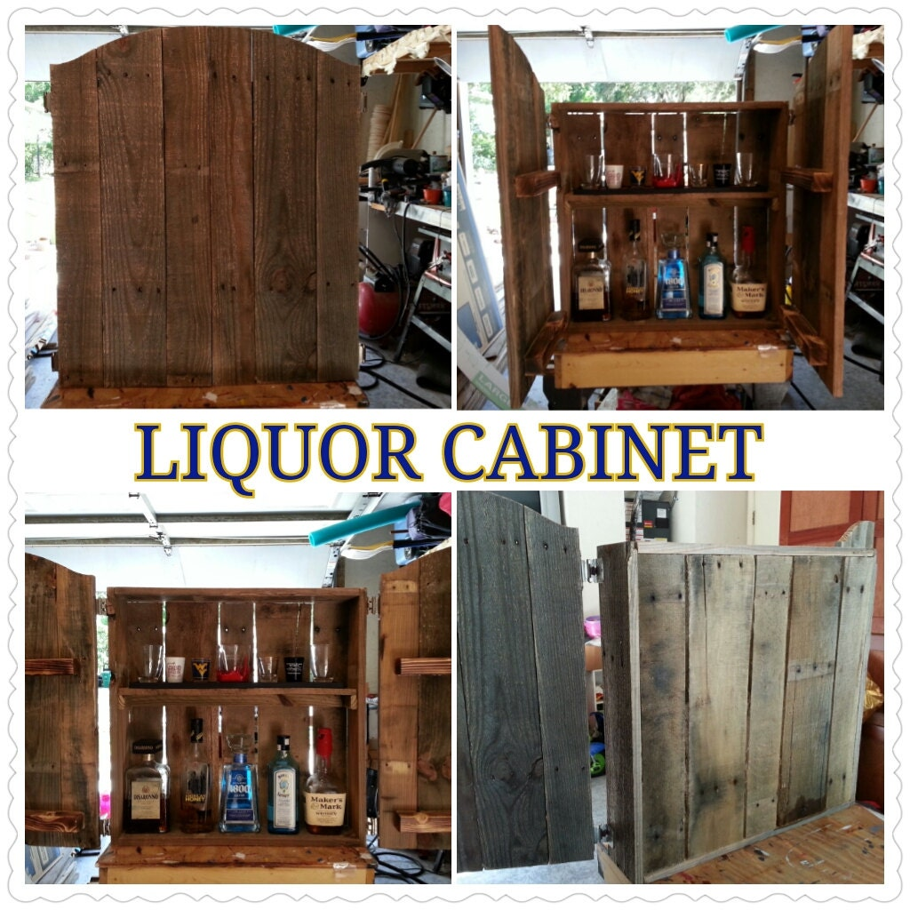 Rustic Recycled Liquor Cabinet made from wood by ...