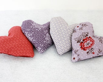 Set of Two Heart-Shaped Lavender Sachets