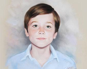 Pastel portrait commission of a child