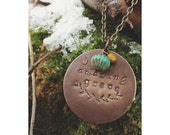 Hand Stamped AMAZING GRACE Necklace Pendant