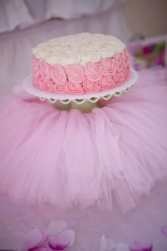 Pink Tutu Cake Stand Skirthigh Chair By Sweetjellyparties