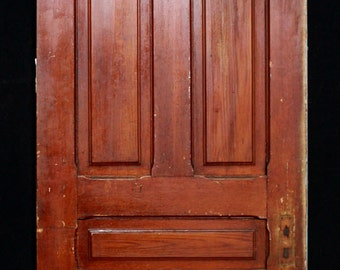 32x77 vintage exterior solid wood entry door by for 15 panel solid wood door