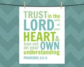 Proverbs 3:5-6. Bible Verse. Scripture. Trust in the Lord. Typography Printable