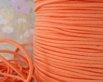 5yds Stretch cord Elastic 2mm Bands Orange String Elastic Headbands Wristbands for Doll making arts and crafts Round cording exx