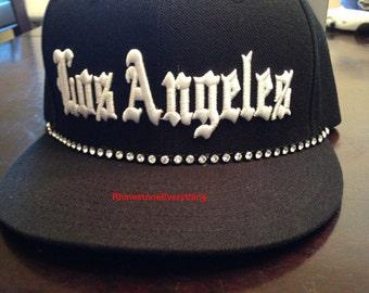 Rhinestone Los Angeles hat